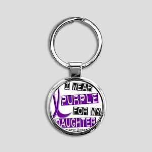 Daughter Round Keychain
