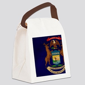 Michigantex3tex3-paint Canvas Lunch Bag