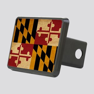 Marylandtex3tex3-paint Rectangular Hitch Cover