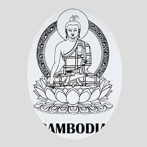 Cambodia8 Oval Ornament