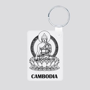 Cambodia8 Aluminum Photo Keychain