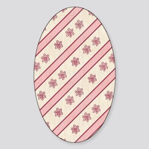 pastelpinkfloral Sticker (Oval)