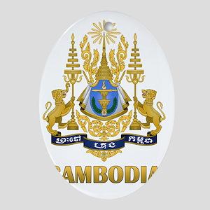 Cambodia9 Oval Ornament