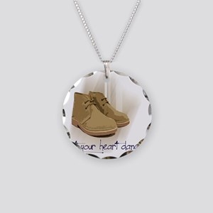 let your heart dance Necklace Circle Charm