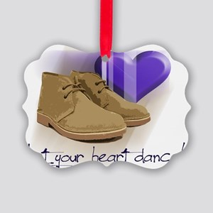 Let your heart dance polo Picture Ornament