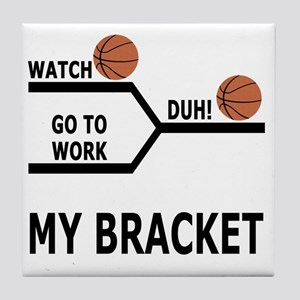 March Madness Basketball Funny T-Shir Tile Coaster