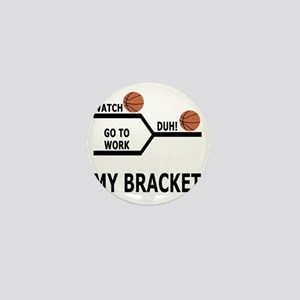 March Madness Basketball Funny T-Shirt Mini Button