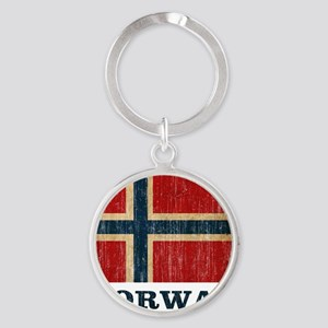 norway9 Round Keychain