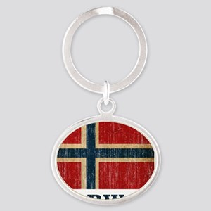 norway9 Oval Keychain
