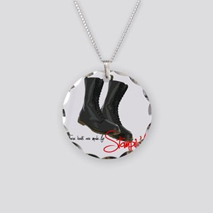 these boots are made for Necklace Circle Charm