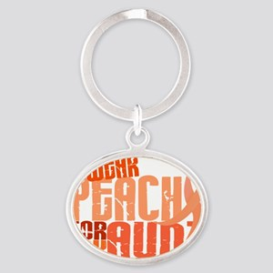 D Aunt Oval Keychain