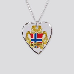 Gold1Norway1 Necklace Heart Charm