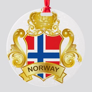 Gold1Norway1 Round Ornament