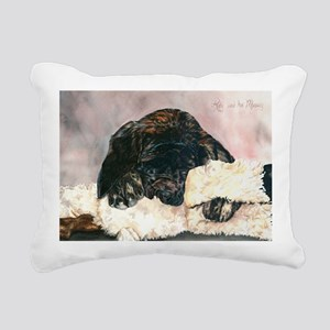 Ruby and her Moosey9 x 1 Rectangular Canvas Pillow