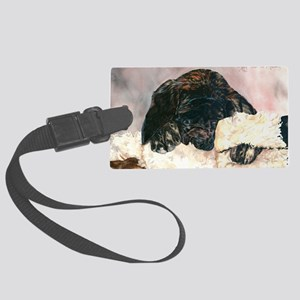 Ruby and her Moosey9 x 12 Large Luggage Tag