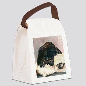 Ruby and her Moosey9 x 12 Canvas Lunch Bag