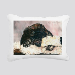 Ruby and her Moosey11x17 Rectangular Canvas Pillow
