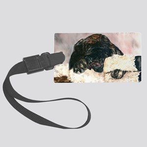 Ruby and her Moosey11x17 Large Luggage Tag