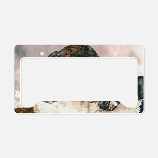 Ruby and her Moosey11x17 License Plate Holder