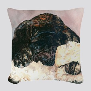 Ruby and her Moosey11x11 Woven Throw Pillow