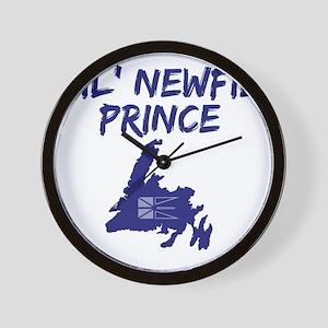 Lil Newfie Prince Wall Clock