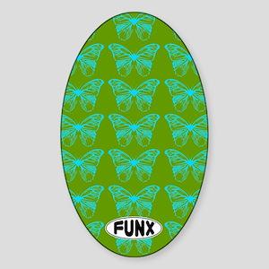 ButterfliedGreenKINDLE Sticker (Oval)