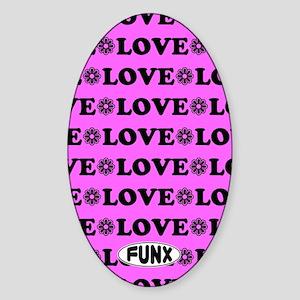 LovePinkKINDLE Sticker (Oval)