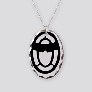Metal Detector_BLACK Necklace Oval Charm