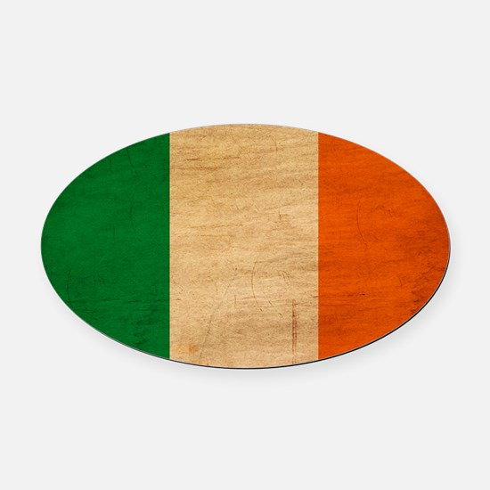 Irelandtex3tex3-paint Oval Car Magnet