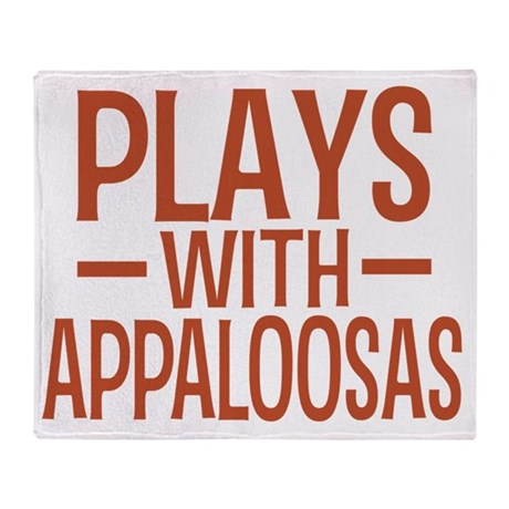 playsappaloosas Throw Blanket