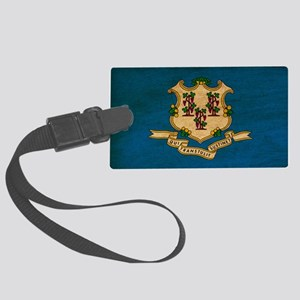 Connecticuttex3tex3-paint Large Luggage Tag