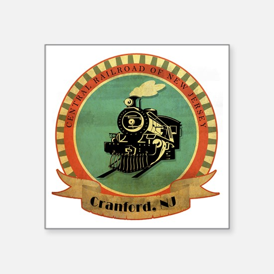"CNJ- Cranford copy Square Sticker 3"" x 3"""