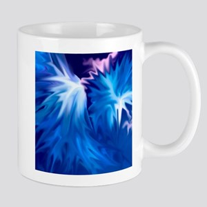 abstract flowers blue Mugs
