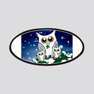 Christmas Snowy Owl family Patches