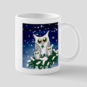 Christmas Snowy Owl family Mugs