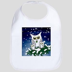Christmas Snowy Owl family Bib