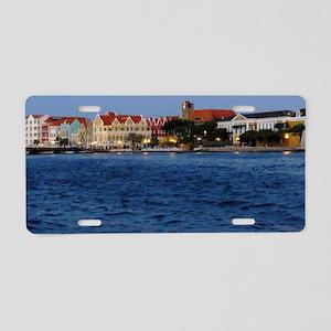 CuracaoAtDusk Aluminum License Plate