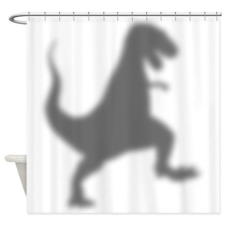 T-Rex Silhouette Shower Curtain