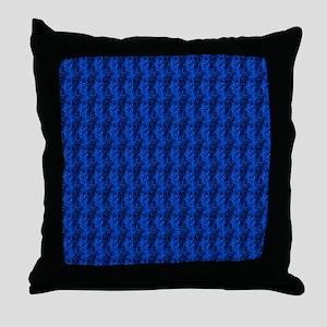 bluevelvetjewelsflipflops Throw Pillow