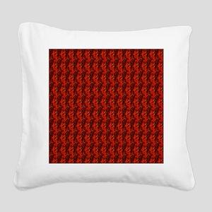 redvelvetjewelsflipflops Square Canvas Pillow