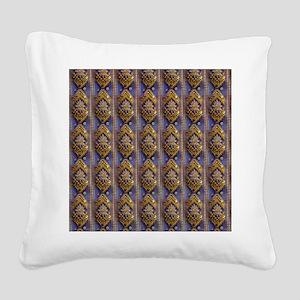 golddiamondsequinsflipflops Square Canvas Pillow