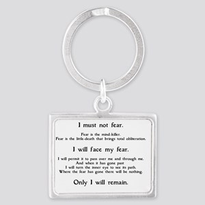 Litany Against Fear (white-Gran Landscape Keychain