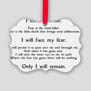 Litany Against Fear (white-Granth Picture Ornament