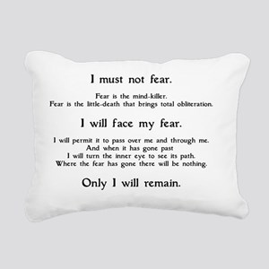 Litany Against Fear (whi Rectangular Canvas Pillow