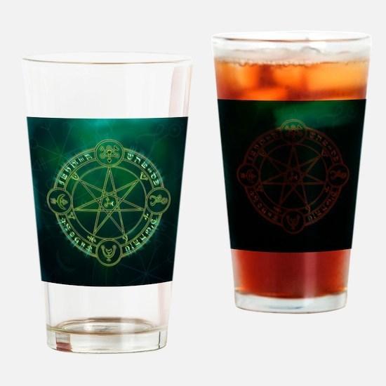 Spell_Symbols_green_BOX Drinking Glass