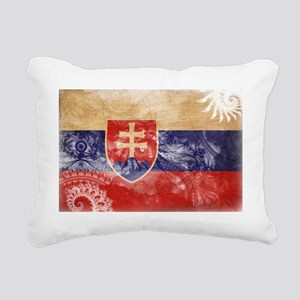 Slovakia textured Crazeh Rectangular Canvas Pillow