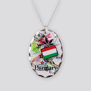 flowerHungary1 Necklace Oval Charm