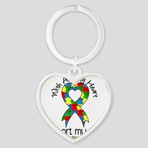 D Nieces Heart Keychain