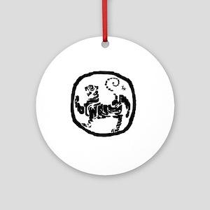 ModifiedShotokanTiger Round Ornament