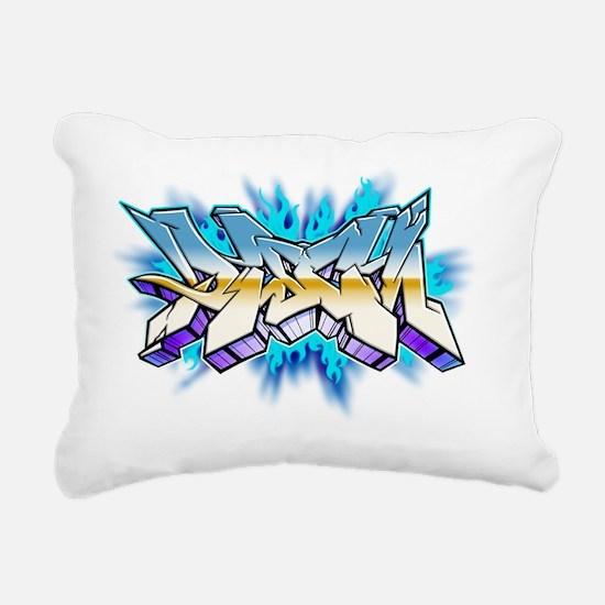 DISCIN_graffitti style_W Rectangular Canvas Pillow